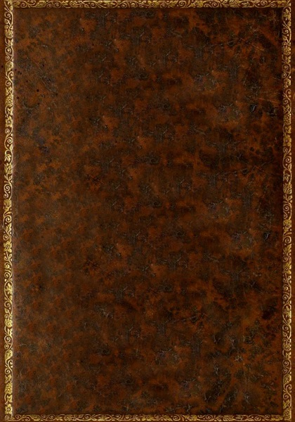 Old leather blank book cover