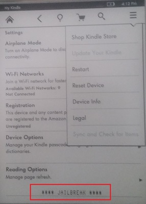 Tools Serial Jailbreaking your fw >= 5 6 x Kindle for