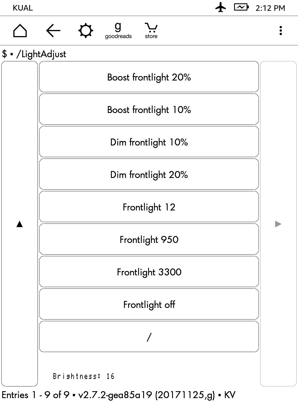 Frontlight Adjust KUAL+ extension - MobileRead Forums