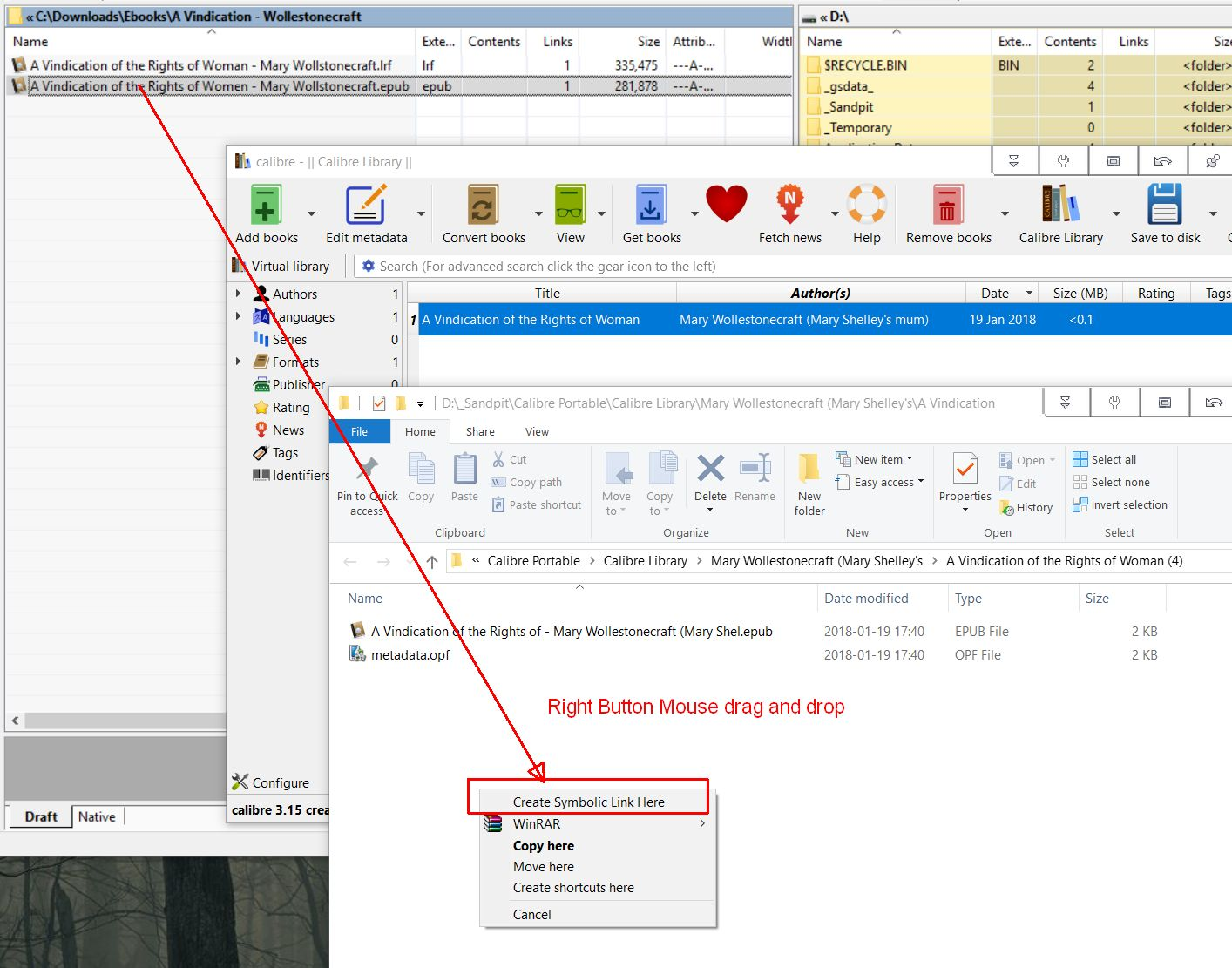 Create symbolic link windows gallery symbol and sign ideas when creating a library does calibre create duplicates rename or create symbolic link here option attachment buycottarizona