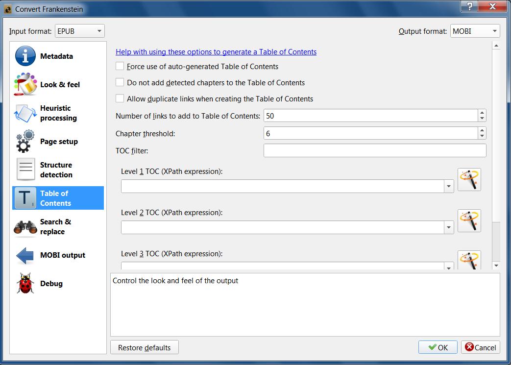 Assistance for 1st time manuscript conversion, Caliber 3 23
