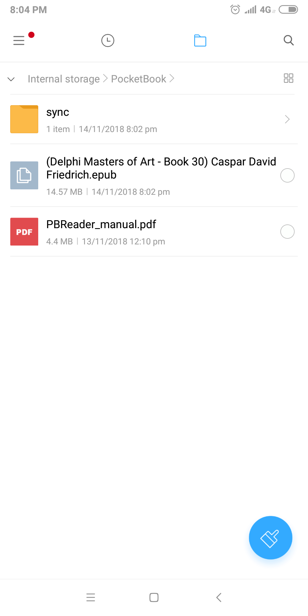 Read pdf and epub directly from SD card without importing