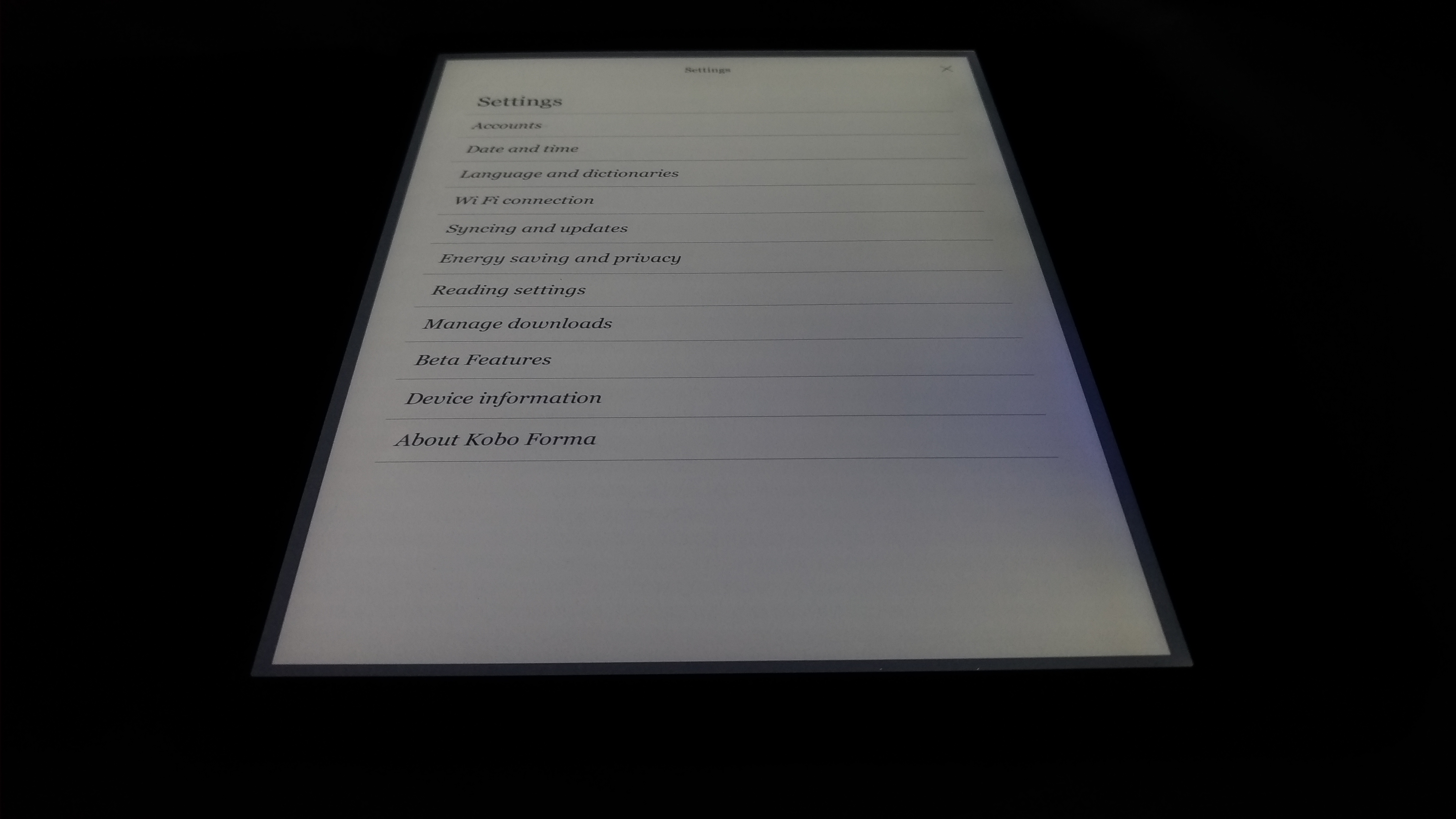 Kobo Forma front light malfunction within a week    - MobileRead Forums