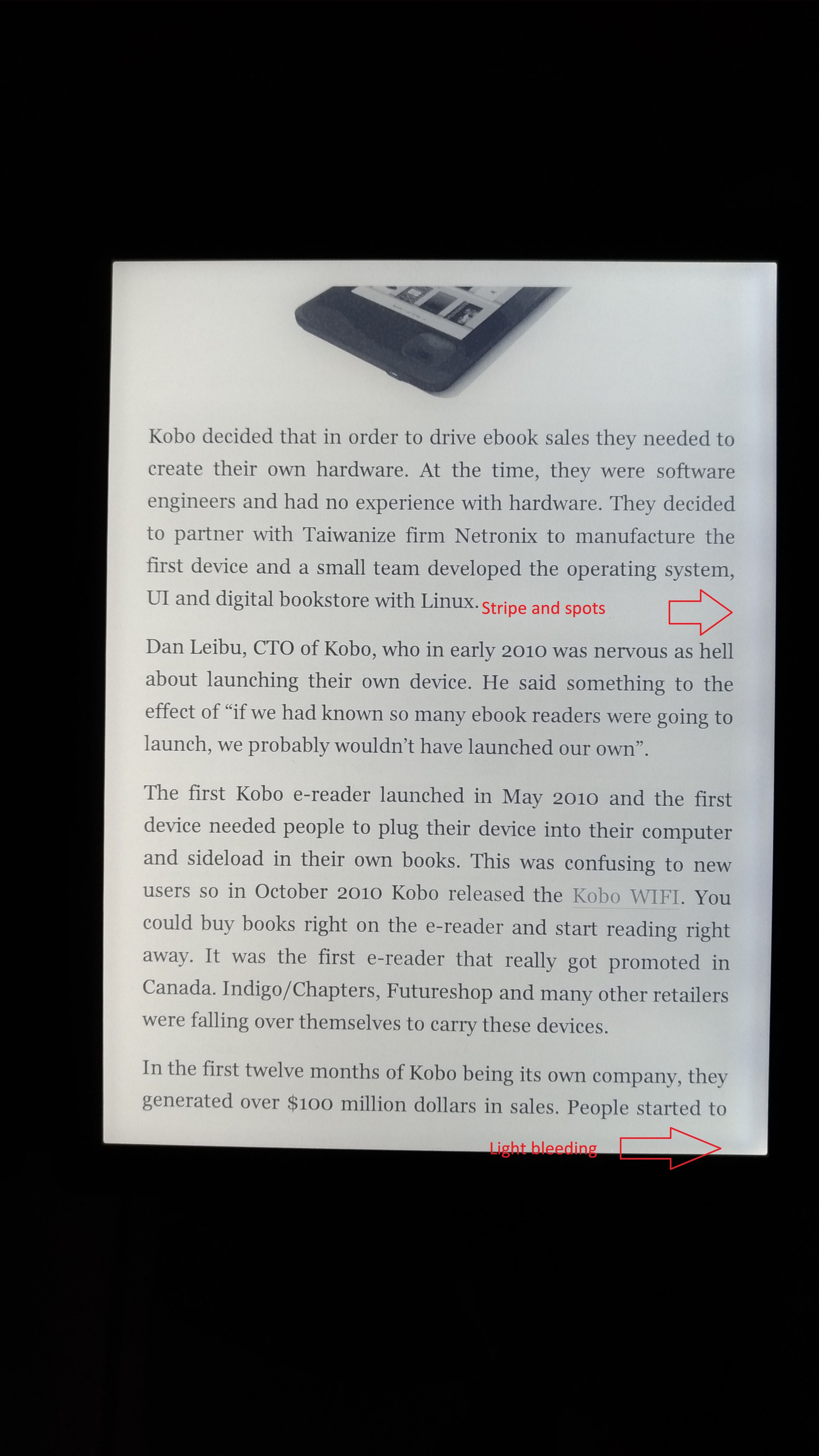 Kobo Forma front light malfunction within a week    - Page 2