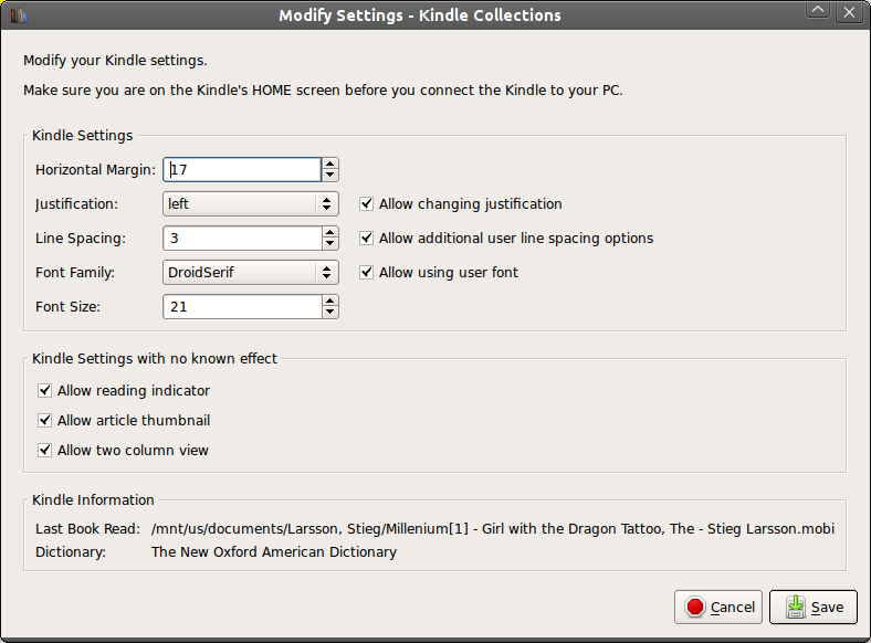 Quick Settings Icon On Kindle Fire