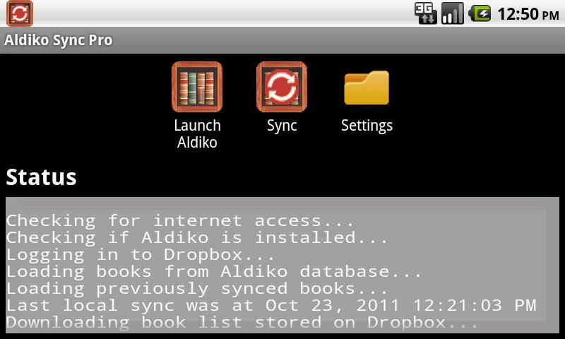 Aldiko Sync - Sync your Aldiko books/bookmarks across